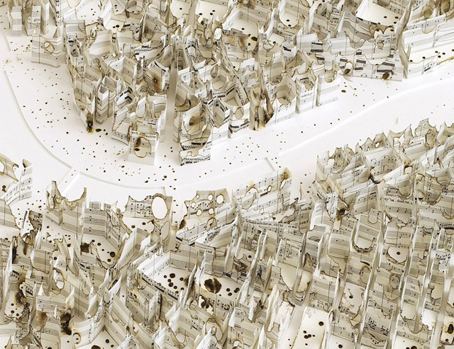 Cartographic Paper Sculptures