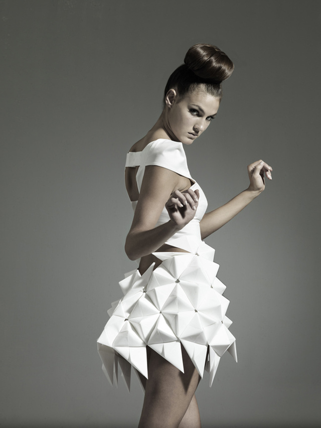 Nintai origami inspired geometric dresses strictlypaper for High couture designers