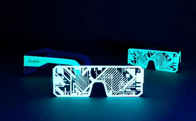 Nordik Impakt Electro-Phosphorescent Paper Glasses
