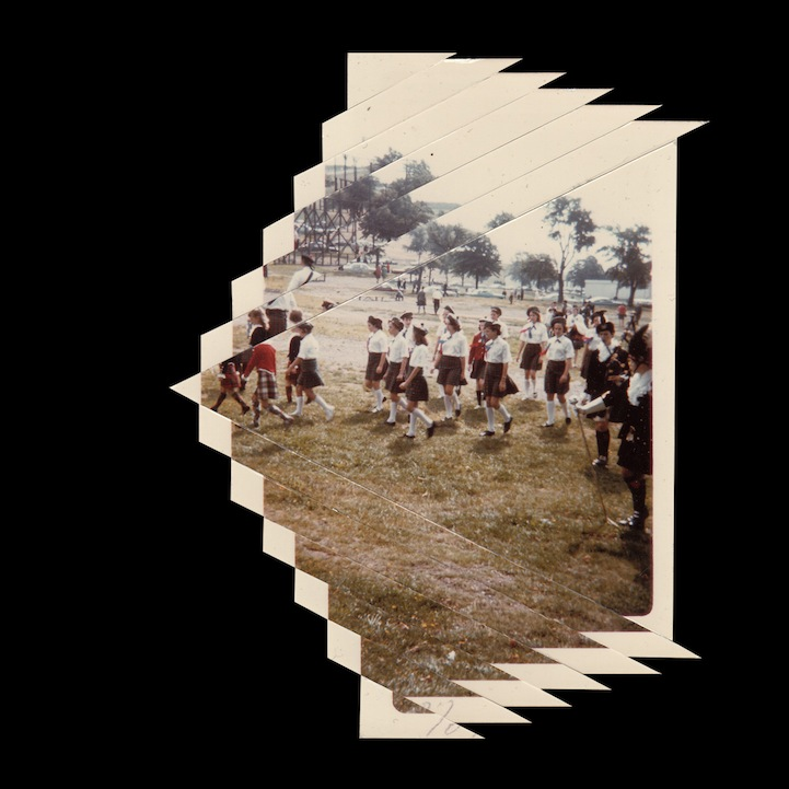 Old Photographs Sliced Into Geometric Collages