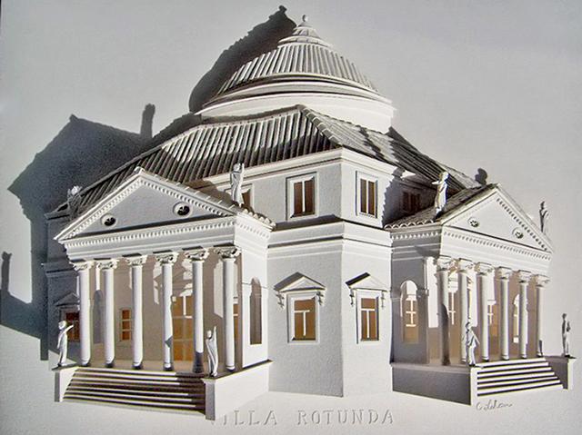 3D Relief Cityscape Paper Sculptures