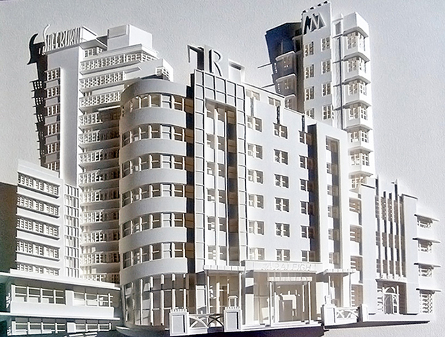 3D Relief Cityscape Paper Sculptures
