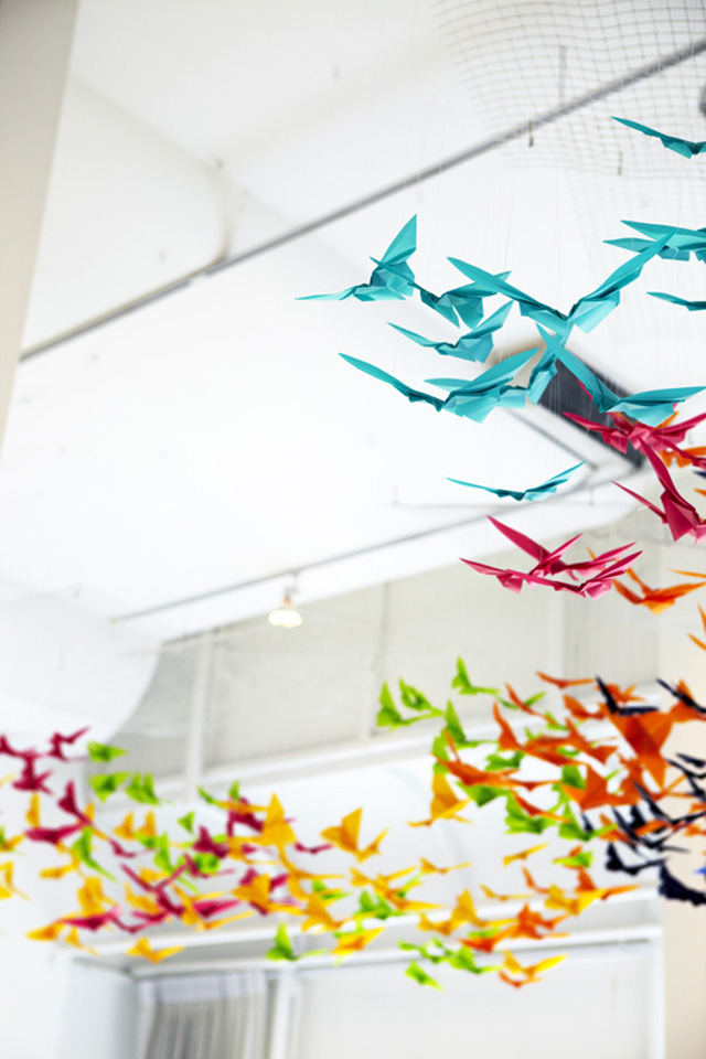 Colorful Origami Butterfly Dreamscape