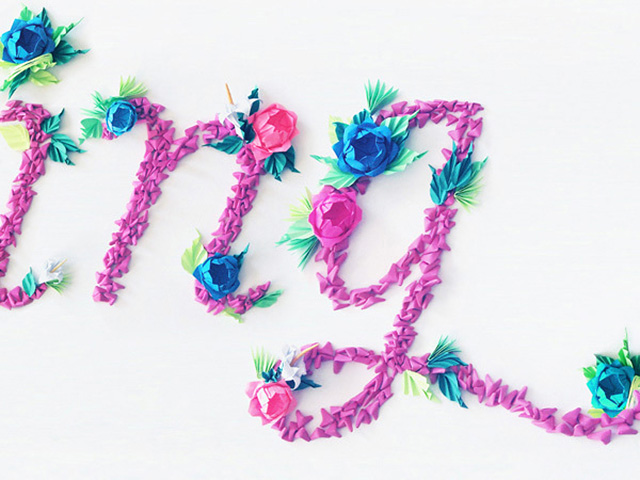 Spring Typography by Jeanie Chong