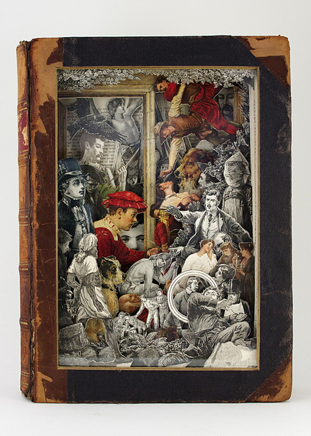 Narratives Through Carved Antique Books