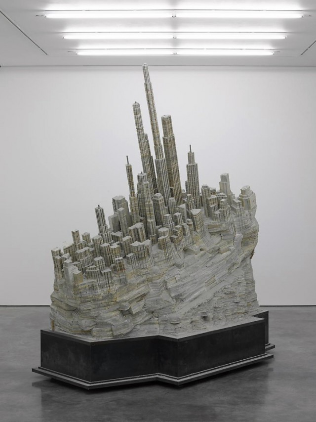Massive Book Sculptures Revealing Cities