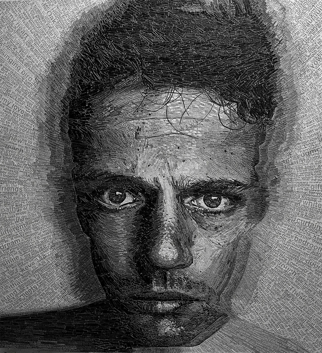 Extremetly Intricate Shredded Poetry Portraits