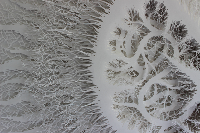 Organic Paper Sculptures by Rogan Brown