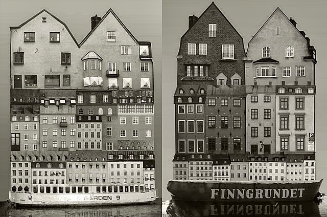 Large Scale Architectural Collages by Anastasia Savinova