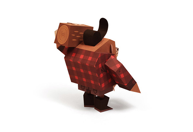 Timber Jack Paper Toy by Tougui