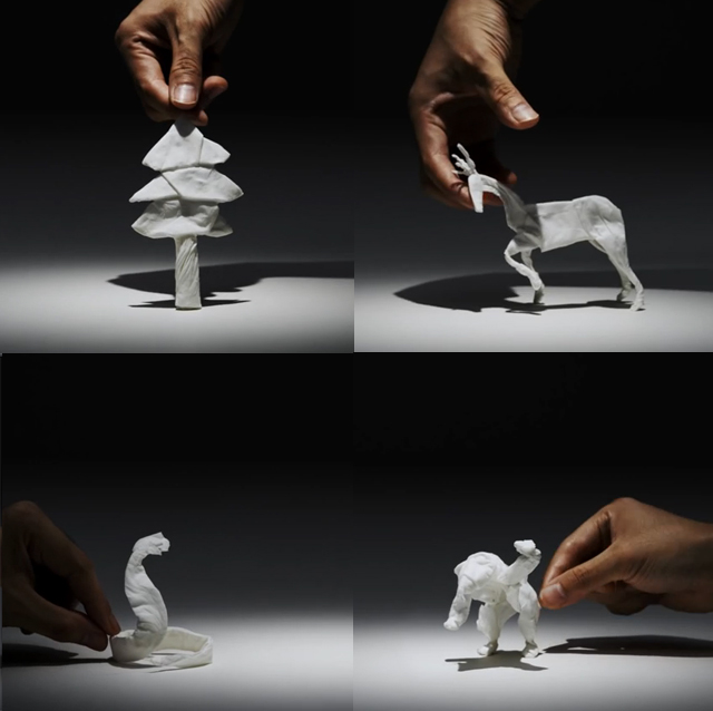 Tissue Paper Stop Motion Animation by Yuki Ariga