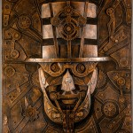 Vintage Steampunk Sculptures Made of Cardboard Lincoln