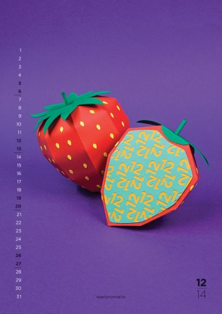 Fun Flavors 2014 Calendar By Nearly Normal Dec