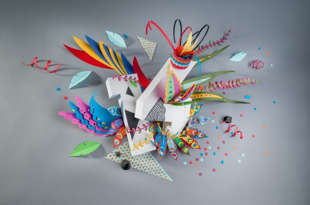 2014 Paper Craft Wallpaper by Ink Studio