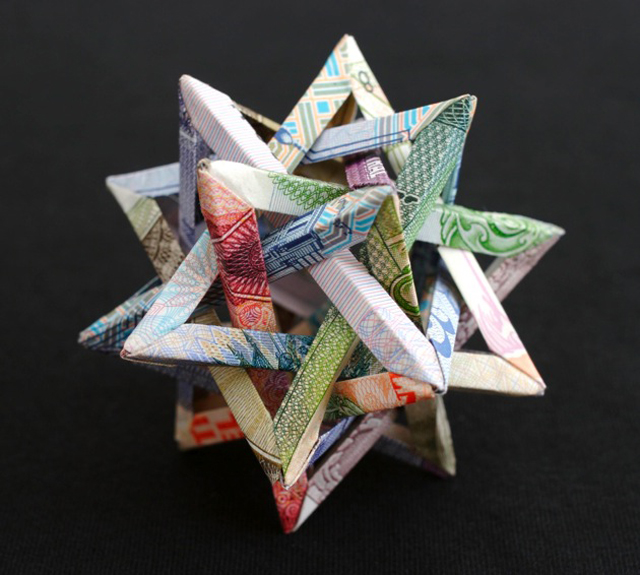 Colorful Three-Dimentional Money Sculptures