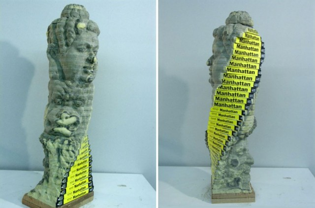 Recycled Book Sculptures By Long-Bin Chen Twist