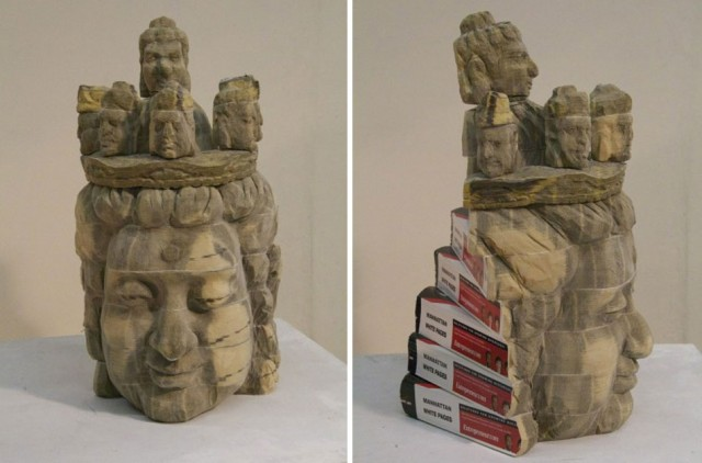 Recycled Book Sculptures By Long-Bin Chen Buddah