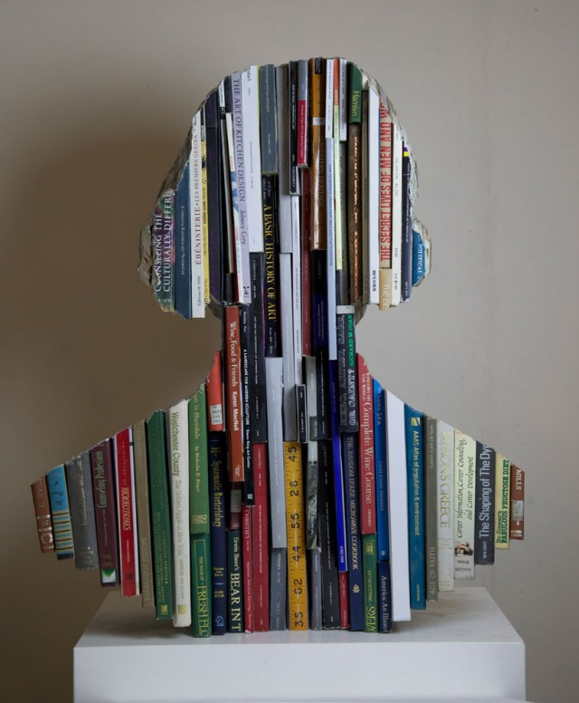 Recycled Book Sculptures By Long-Bin Chen