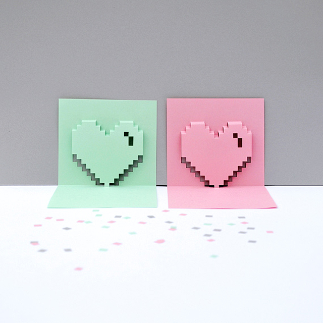 3d heart pop up card template pdf