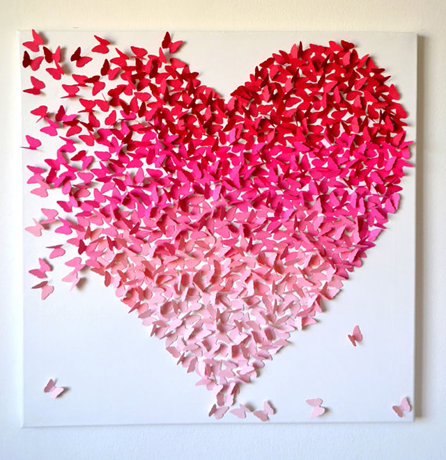 3d-pink-ombre-butterfly-heart