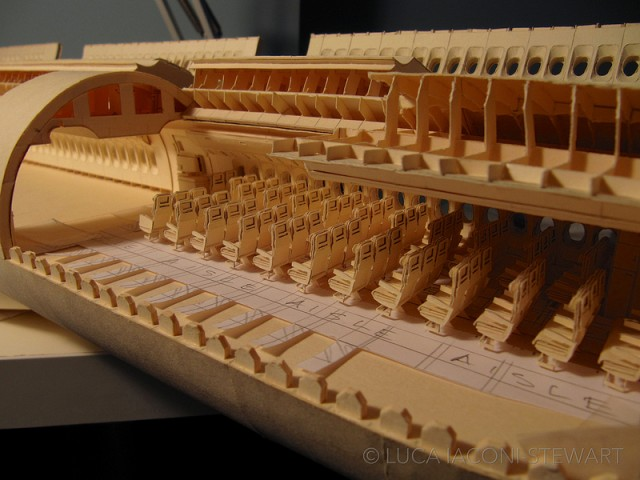 A 1:60-Scale Boeing 777 Made Entirely From Paper Manilla Folders Interior