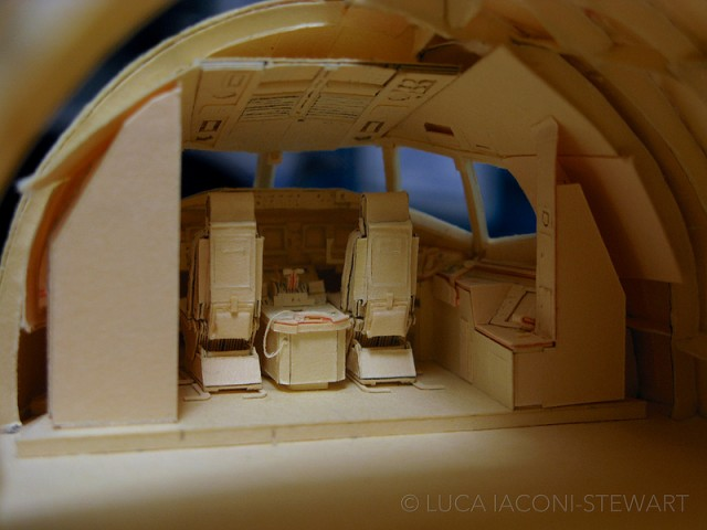 A 1:60-Scale Boeing 777 Made Entirely From Paper Manilla Folders Captains