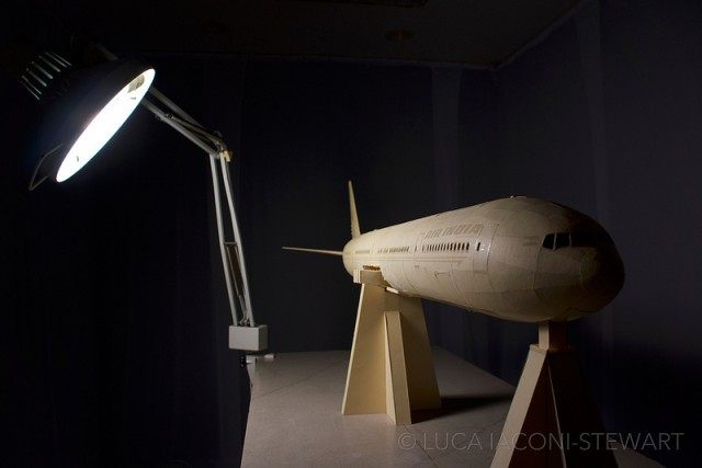 A 1:60-Scale Boeing 777 Made Entirely From Paper Manilla Folders Completed