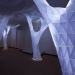 Glowing Indoor Paper Forest by Oroproject