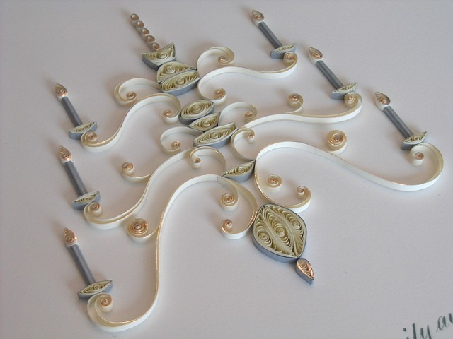 Quilled Designs by Ann Martin of All Things Paper Wedding Chandelier