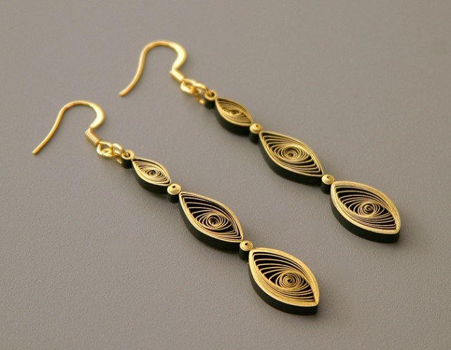 Quilled Designs by Ann Martin of All Things Paper Earrings