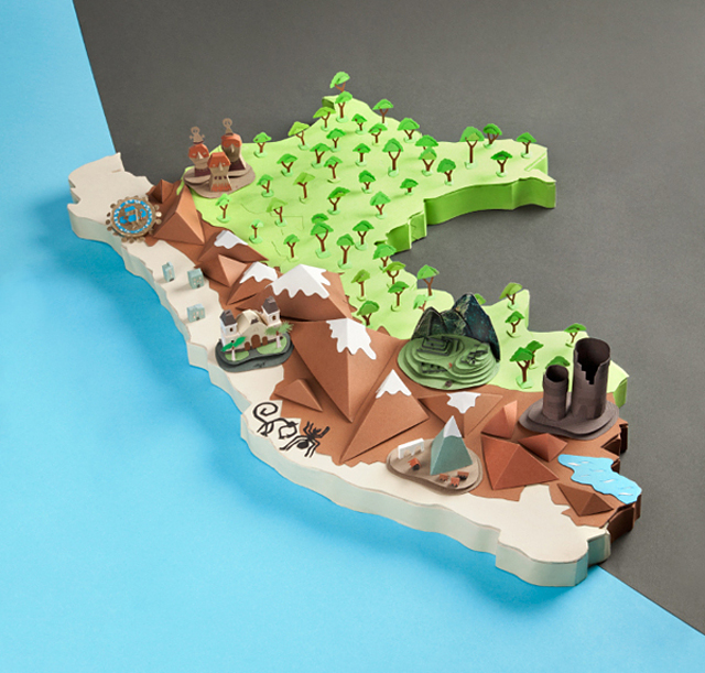 Papercraft Map Of Peru