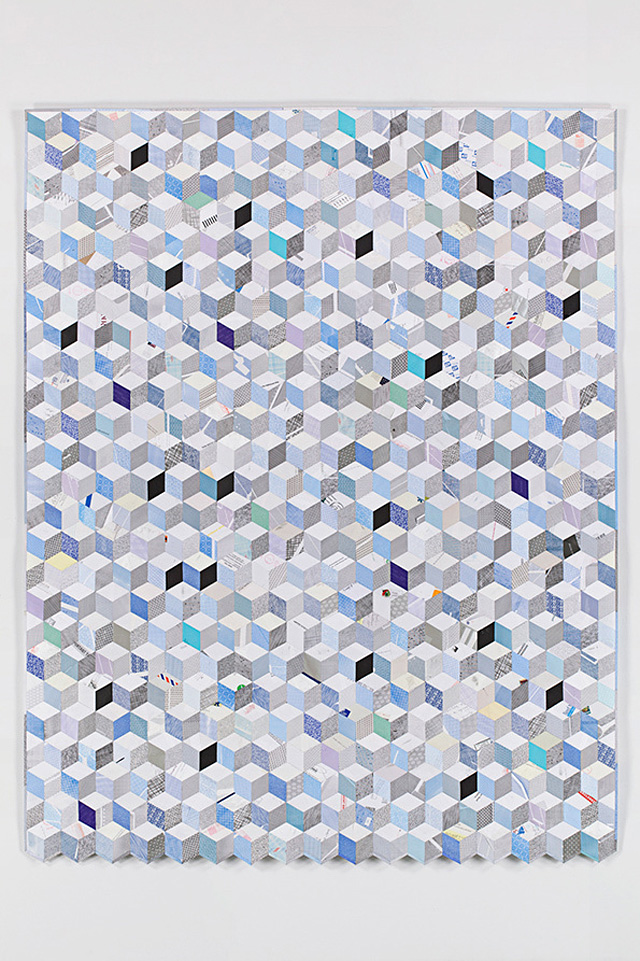 Paper Envelopes Made Into Geometric Quilts 1