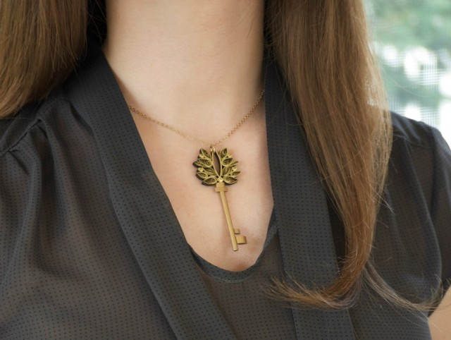 Quilled Designs by Ann Martin of All Things Paper Key Necklace