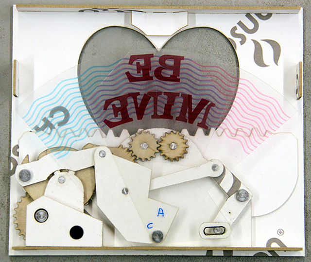 Steampunk Valentine - Mechanical Greeting Card