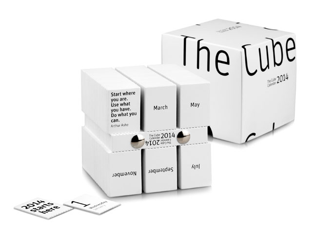 The Cube Calendar By Philip Stroomberg Met Box