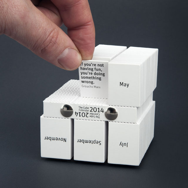 The Cube Calendar By Philip Stroomberg Quote Groucho