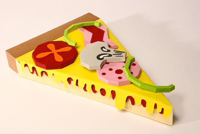 YCN Fedrigoni: Pizza Paper Sculpture