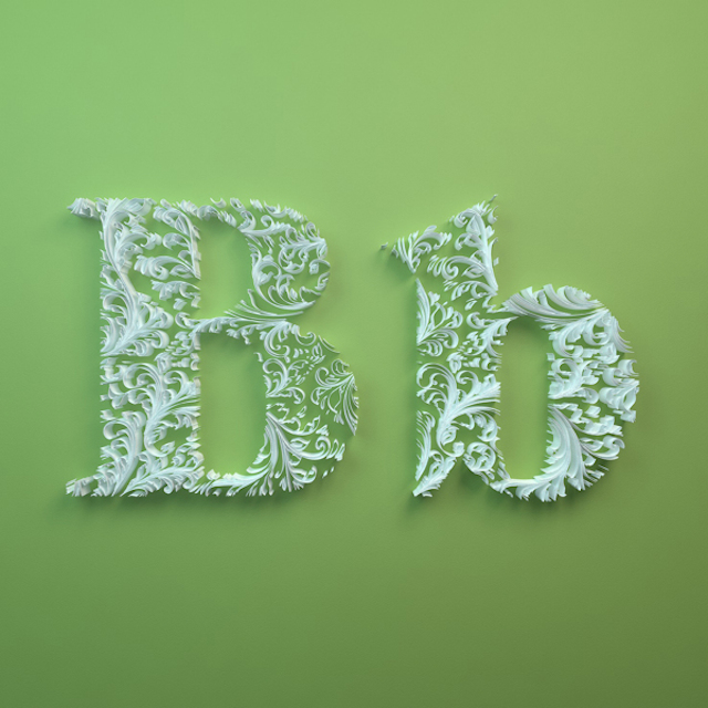 Quilled Paper Alphabet by Dan Hoopert Letter B