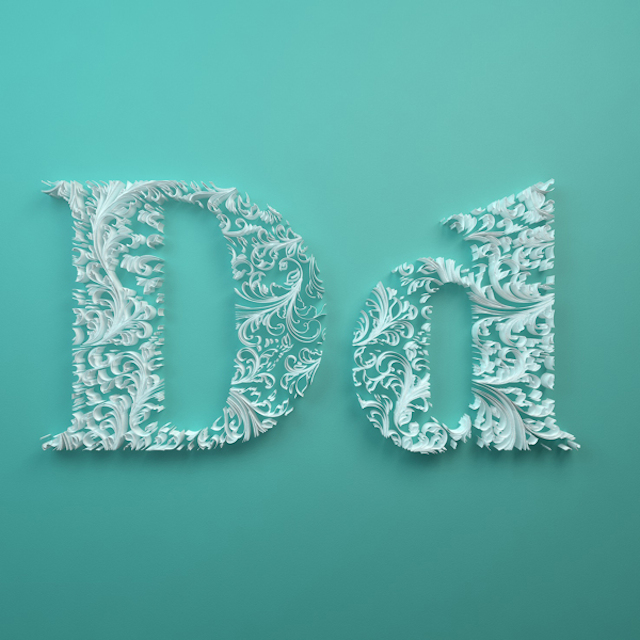 Quilled Paper Alphabet by Dan Hoopert Letter D
