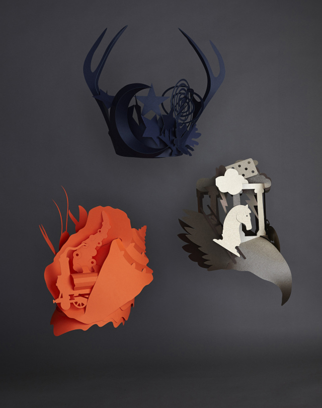 Unique Bespoke Headdresses for Hermès Germany by Benja Harney