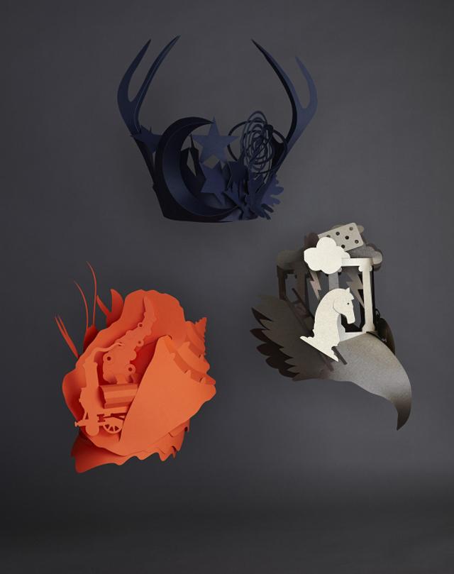 Unique Bespoke Headdresses for Hermès Germany by Benja Harney