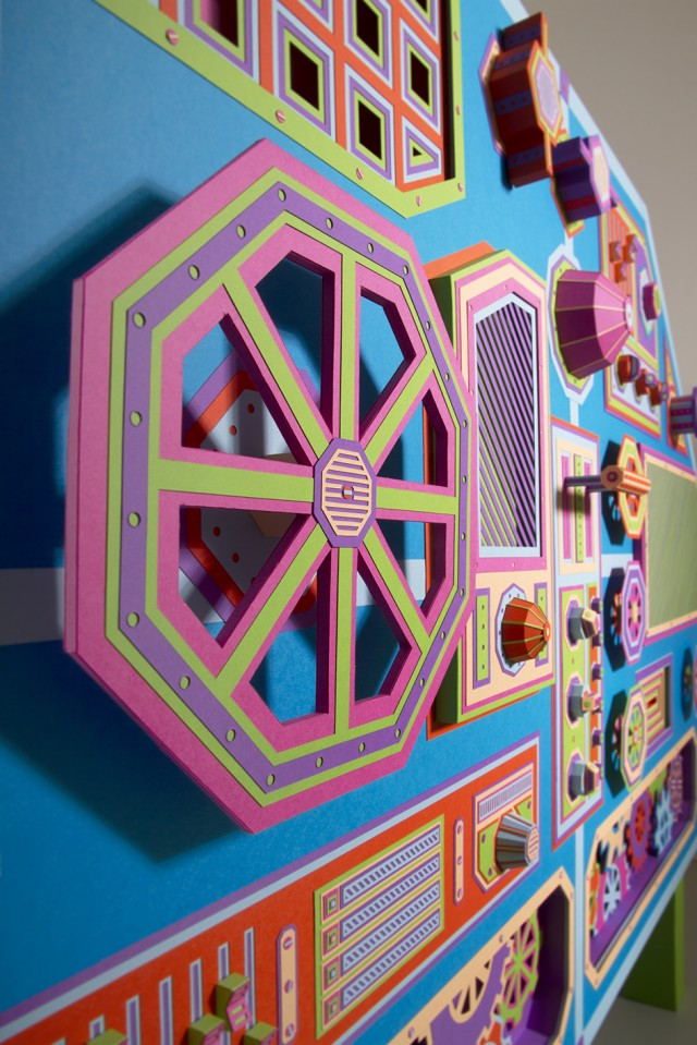 Creative Factory Paper Installation by Zim & Zou