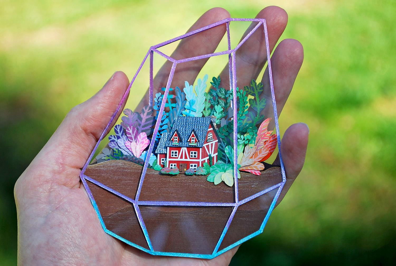 Cameron-Garland-Miniature-Paper-House-Terrarium