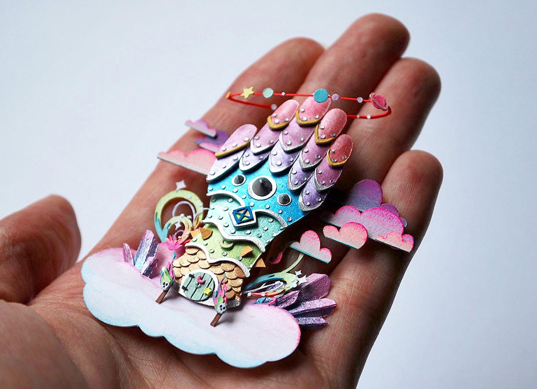 Cameron-Garland-Miniature-Paper-House-Wizard-House
