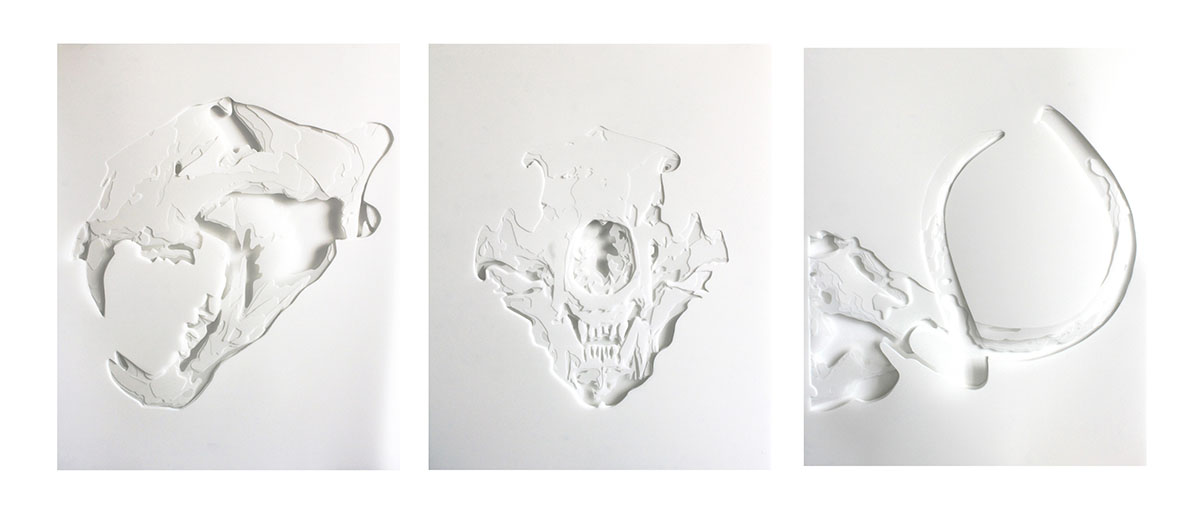 Kim_Kyong_The-Skulls-(Triptych),-33'x72'.-Hand-Cut-Drafting-Film