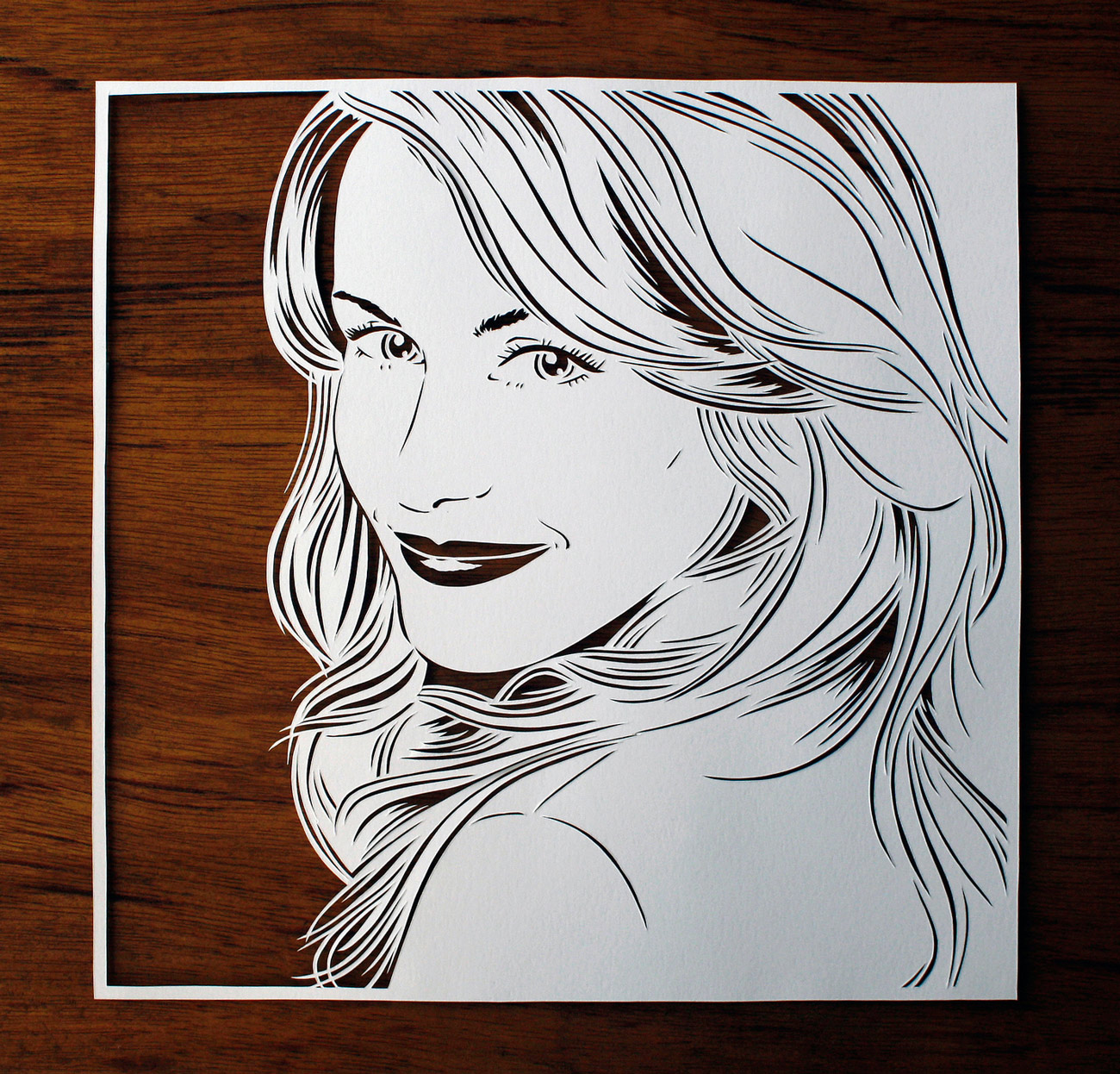 julene-harrison-papercut-illustration-beautiful-woman-portrait
