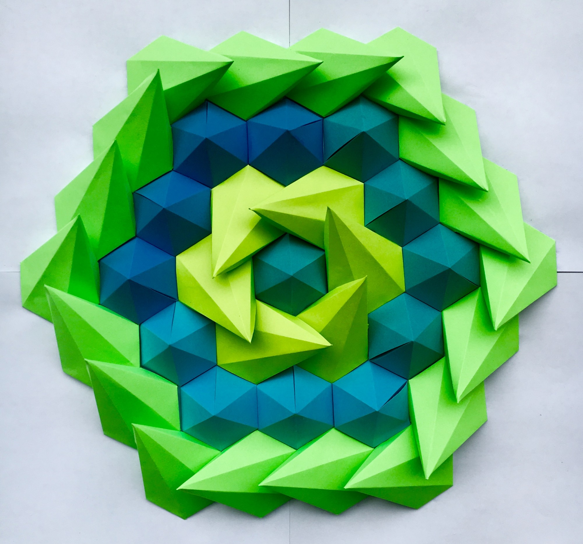 mathematical inspired 3d paper kaleidoscope tessellations by brandon