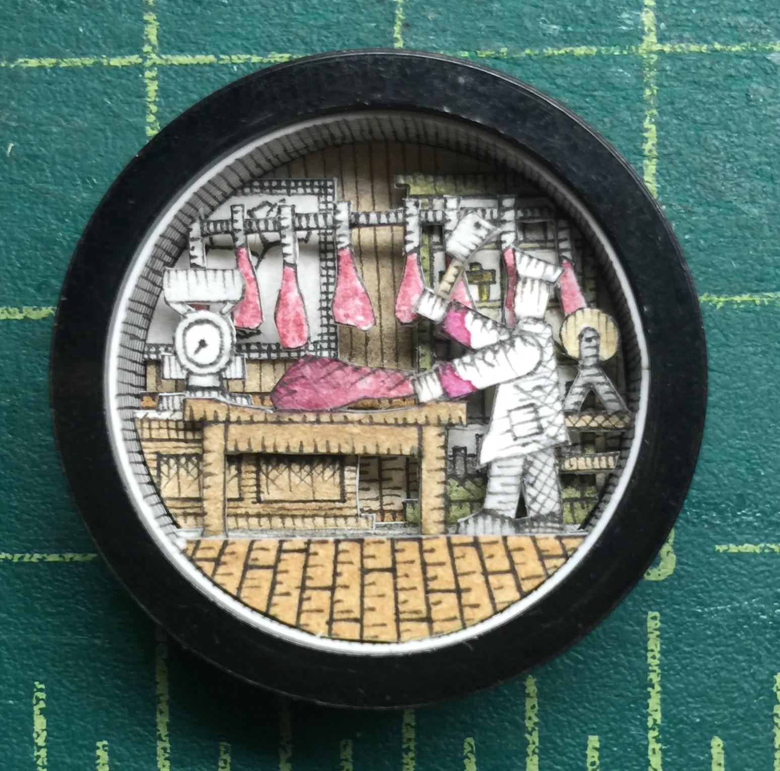Matthew-Pleva-Miniature-Paper-Diorama-Victorian-Butcher-Strictlypaper-7