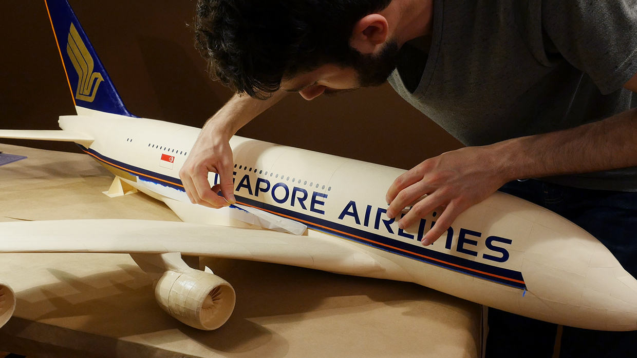Paper Plane Social Campaign for Singapore Airlines