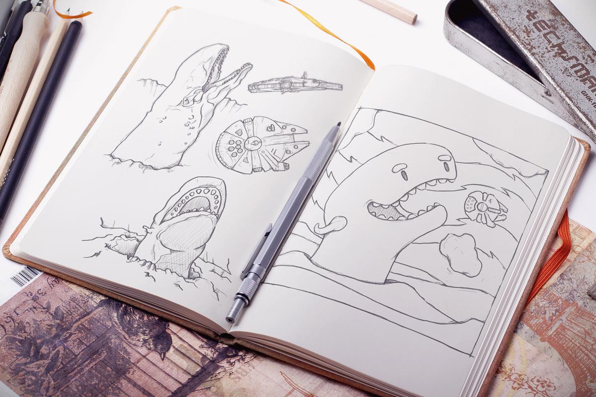 Whimsical Paper Animal Illustrations Vaclav Bicha  Strictlypaper Exogorth_skecth